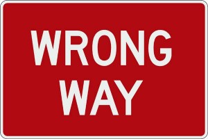 wrong way image
